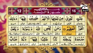 Firasat e Quraan | Episode 83 | Surah An-Nisa 12–16
